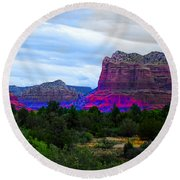 Glorious Morning In Sedona Round Beach Towel