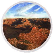 Morning Glory - The Grand Canyon From Kaibab Trail  Round Beach Towel
