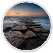 Morning Glow Round Beach Towel
