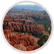 Morning In Bryce Canyon Round Beach Towel