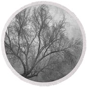 Morning In The Fog. M Round Beach Towel