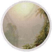 Morning In The Tropics Round Beach Towel by Frederic Edwin Church
