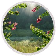 Morning Marsh Round Beach Towel