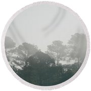 Morning Mist 4 Round Beach Towel