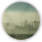 Morning Mist Round Beach Towel