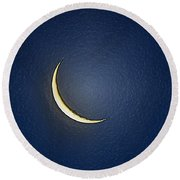Morning Moon Textured Round Beach Towel