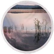 Morning Nocturne. Ladoga Lake. Northern Russia  Round Beach Towel