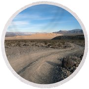Morning On Steele Pass Round Beach Towel