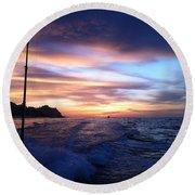 Morning Skies Round Beach Towel