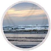 Morning Sunrise Round Beach Towel