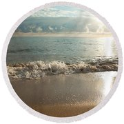 Morning Sunrise In Ft. Lauderdale Round Beach Towel