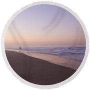 Morning Surf Round Beach Towel