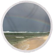 Morning Surprise Round Beach Towel