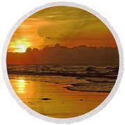 Morning Tide Round Beach Towel