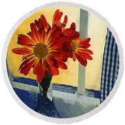 Morning Window Round Beach Towel