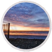 Morning With The Birds Round Beach Towel