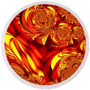 Moroccan Lights - Orange Round Beach Towel
