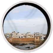 Moroccan View Round Beach Towel
