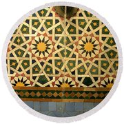 Moroccan Water Fountain Round Beach Towel by Ralph A  Ledergerber-Photography