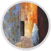 Moroccan Woman 02 Round Beach Towel