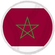 Morocco Flag Round Beach Towel