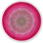 Morphed Art Globe 12 Round Beach Towel by Rhonda Barrett