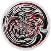 Morphed Art Globe 15 Round Beach Towel