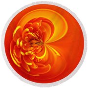 Morphed Art Globe 19 Round Beach Towel by Rhonda Barrett