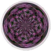 Morphed Art Globe 28 Round Beach Towel