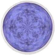 Morphed Art Globe 30 Round Beach Towel