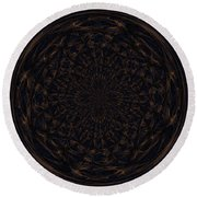Morphed Art Globe 31 Round Beach Towel by Rhonda Barrett