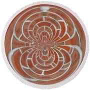 Morphed Art Globes 17 Round Beach Towel