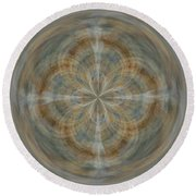 Morphed Art Globes 25 Round Beach Towel