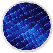 Morpho Butterfly Scales Round Beach Towel