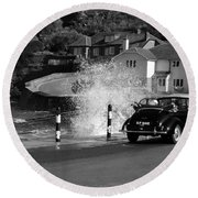 Morris Minor And The Wave Round Beach Towel