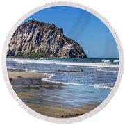 Morro Rock Round Beach Towel