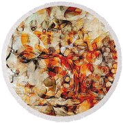 Mosaic 0259 Marucii Round Beach Towel