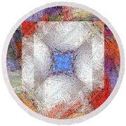 Mosaic 114-02-13 Marucii Round Beach Towel