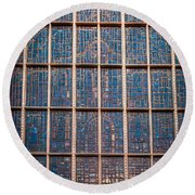 Mosaic Alamo In Glass Round Beach Towel