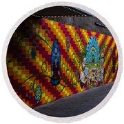 Mosaic Round Beach Towel