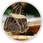 Mosaic Butterfly Round Beach Towel