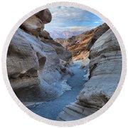 Mosaic Canyon Twilight Round Beach Towel