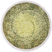Mosaic Galaxy In Gold Round Beach Towel