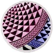Mosaic Quarter Circle Bottom Right  Round Beach Towel