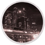 Moscow At Night Round Beach Towel