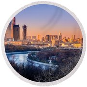 Moscow City Round Beach Towel