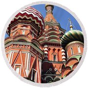 Moscow13 Round Beach Towel
