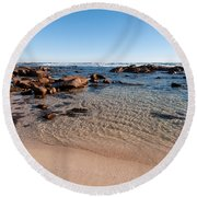 Moses Rock Beach 03 Round Beach Towel