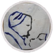 Moses - Tile Round Beach Towel