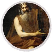 Moses Round Beach Towel